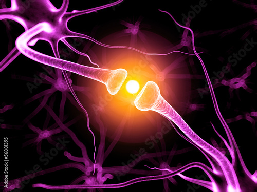 3d rendered illustration of an active neurone