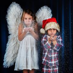 Christkind und Nikolaus
