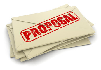 Proposal letters  (clipping path included)