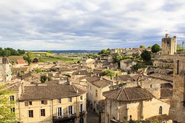 Saint-Emilion village panoramic view