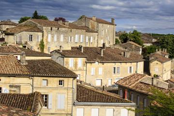 Roofs of Saint-Emilion village, France