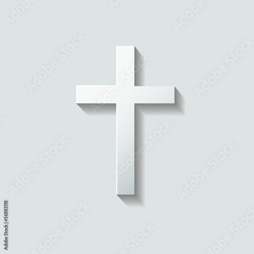 Mourning Card Cross