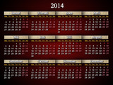 beautiful unusual claret calendar for 2014 year in Swedish
