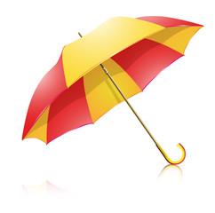 yellow-red umbrella