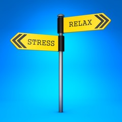 Stress or Relax. Concept of Choice.