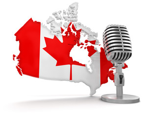Microphone and Canada (clipping path included)
