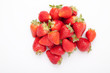 strawberry bunch of berries on a white background