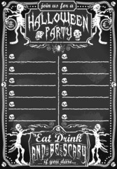 Vintage Blackboard for Halloween Party