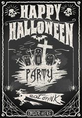Vintage Blackboard for Halloween Party