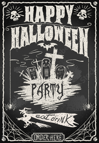 Vintage Blackboard for Halloween Party - 56885588
