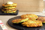Zucchini and corn fritters