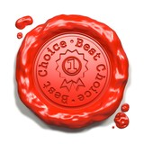 Best Choice - Stamp on Red Wax Seal.