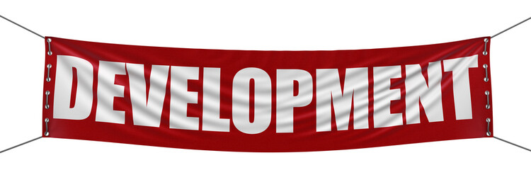 development Banner (clipping path included)