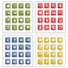 Universal Icons Set - Isolated On White