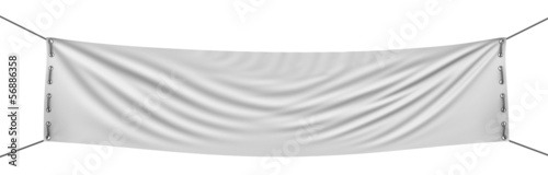 empty banner  (clipping path included) - 56886358
