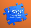 CWQC on Blue Puzzle Pieces. Business Concept.