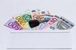Autokauf mit Briefumschlag