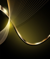 Elegant abstract background, gold.