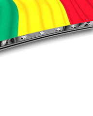 Designelement Flagge Guinea