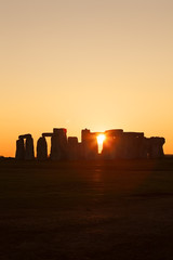 Stonehenge at sunset, Salisbury