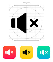 Speaker icon. Volume mute.