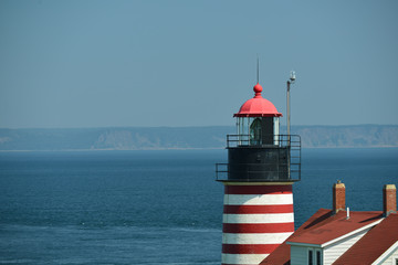West Quoddy Lighthouse and the open Atlantic Ocean