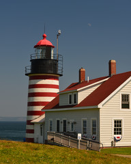 Vertical of the Beautiful west quoddy lighthouse