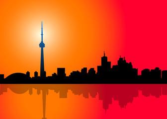 Toronto Skyline - vector illustration
