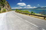Road Along Prespa Lake, Republic Of Macedonia poster