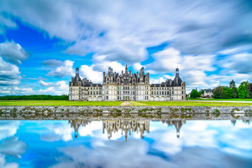 Chateau de Chambord, Unesco french castle. Loire, France