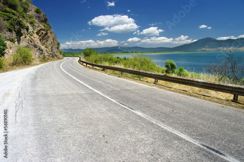 Road Along Prespa Lake, Republic Of Macedonia