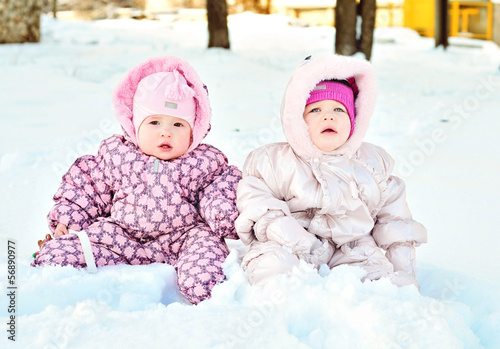 babies in snow