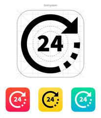 Round-the-clock icon.