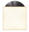 canvas print picture - vinyl record disc LP in paper sleeve isolated