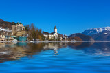 Village St Wolfgang on the lake Wolfgangsee - Austria