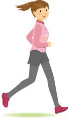 楽しく走る女性