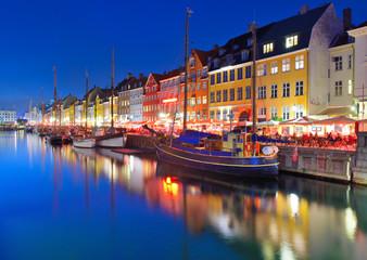 Copenhagen, Denmark at Nyhavn