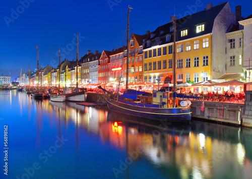 Copenhagen, Denmark at Nyhavn - 56898162