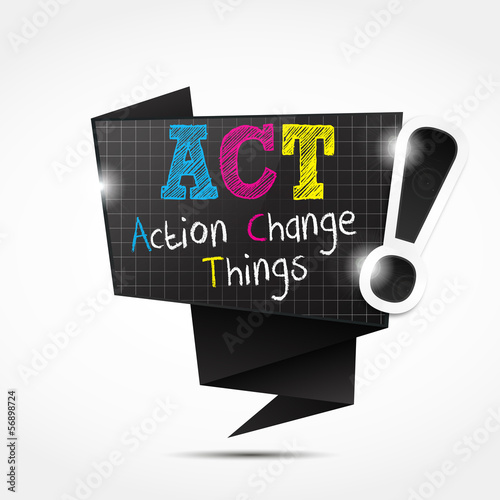 origami speech bubble acronym : Action Change Things
