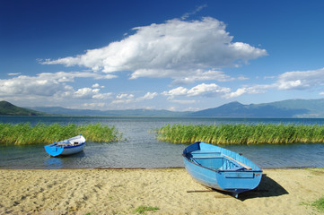 Cloudscape On Prespa Lake, Republic Of Macedonia