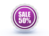 sale star icon on white background
