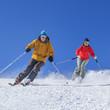 Skifahrer bei Traumwetter