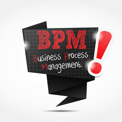 origami speech bubble acronym :  business process management
