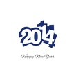 Happy New Year 2014 blue logo vector