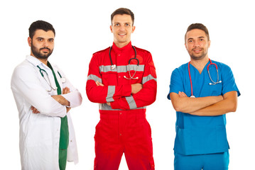 Team of different doctors