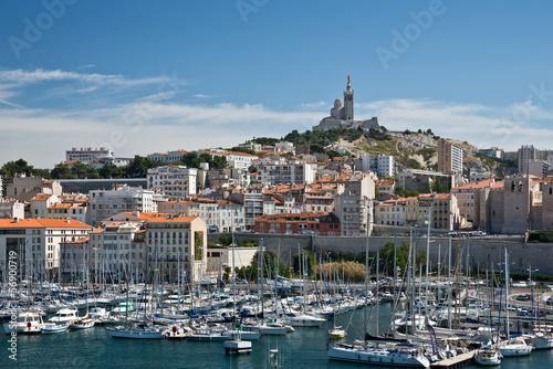 Marsylia, le Vieux Port et Notre Dame de la Garde
