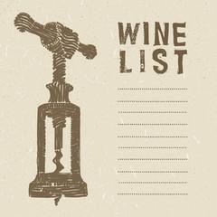 wine list page
