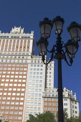 Skyscraper, called Spain Building in the Spain Square. Madrid.