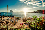 Fototapety View of Cala d'Hort Beach, Ibiza