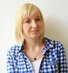 Portrait of an blond woman